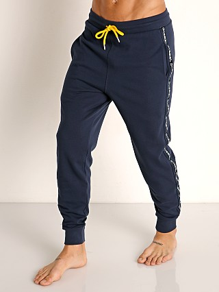 Model in navy Diesel Peter Lounge Pants