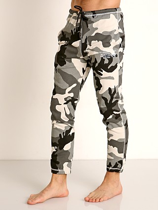 Model in camo green Diesel Peter Lounge Pants