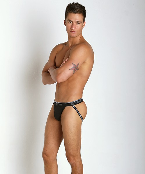 2xist Cotton Stretch Jock Straps 3-Pack Black