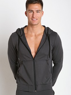 Gregg Homme Liberty Bamboo Cotton Hoodie Charcoal