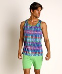 St33le Cobalt Tribal Stretch Jersey Tank Top, view 2