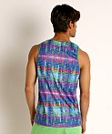 St33le Cobalt Tribal Stretch Jersey Tank Top, view 4