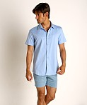 St33le Stretch Jersey Knit Short Sleeve Shirt Cloud, view 1