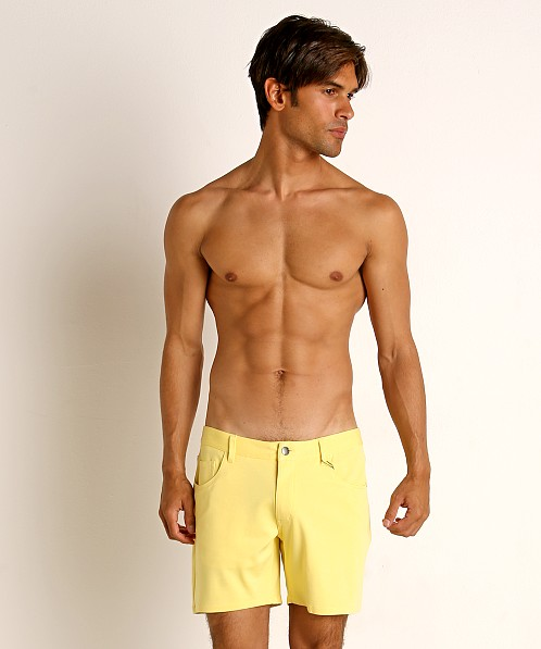 St33le Knit Jeans Shorts Lemon Drop