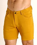 St33le Knit Jeans Shorts Honey Gold, view 3