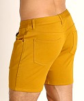 St33le Knit Jeans Shorts Honey Gold, view 4