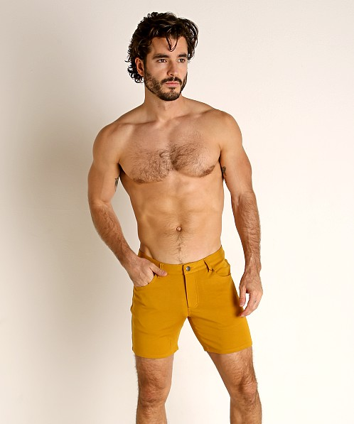 St33le Knit Jeans Shorts Honey Gold