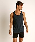 St33le Perforated Mesh Performance Tank Top Midnight, view 2