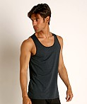 St33le Perforated Mesh Performance Tank Top Midnight, view 3