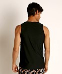 St33le Honeycomb Air Mesh Performance Tank Top Black, view 4
