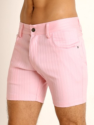 Complete the look: LASC Pinstriped Stretch Twill 5-Pocket Shorts Pink