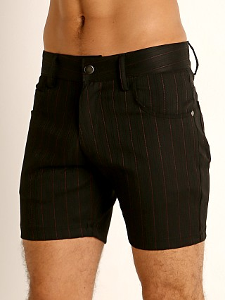 Complete the look: LASC Pinstriped Stretch Twill 5-Pocket Shorts Black