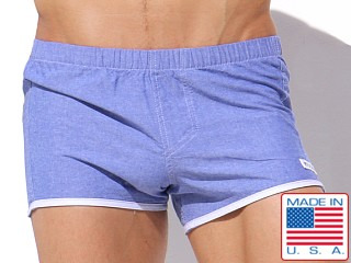 Rufskin Barco 100% Cotton Boxer Short Chambray Blue