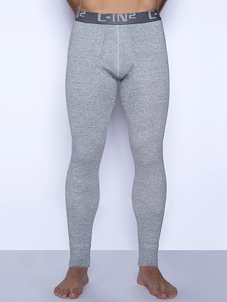 Model in grey heather C-IN2 Core Long Johns