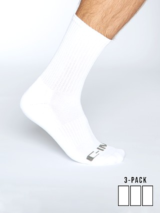 Model in white C-IN2 Core Crew Socks 3-Pack
