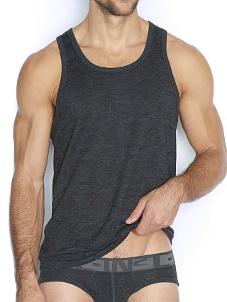 Model in coal heather C-IN2 Hand Me Down Relaxed Tank Top