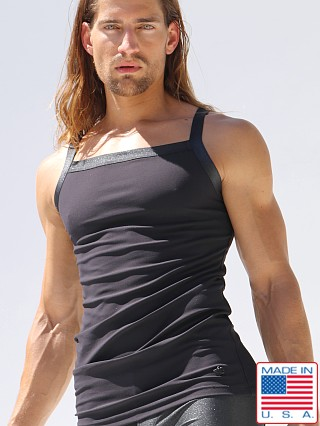 Model in black Rufskin Stellar Caelum Tank Top