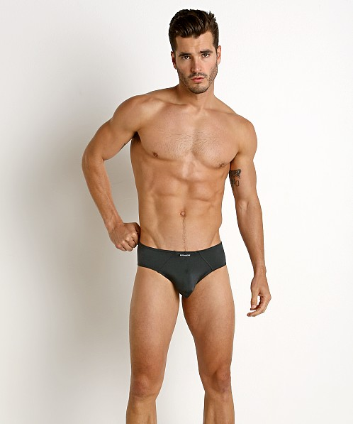 Rick Majors Power Spandex Hip Brief Charcoal