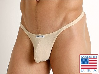 Model in tan Rick Majors UltraLite Stretch Cotton Thong