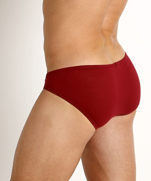 Rick Majors UltraLite Stretch Cotton C-Ring Brief Burgundy