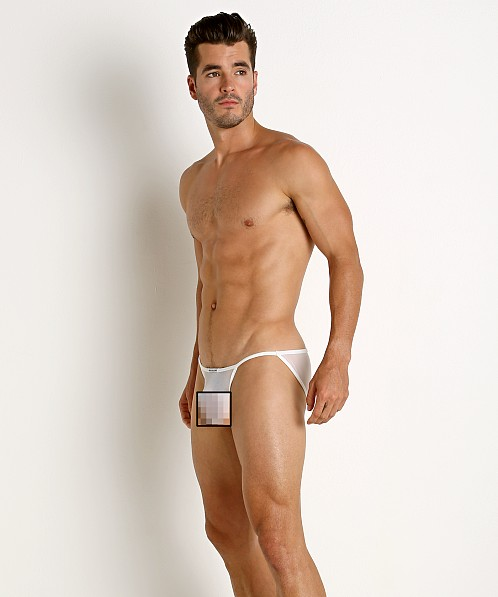 Rick Majors Sheer Mesh Sports Brief White