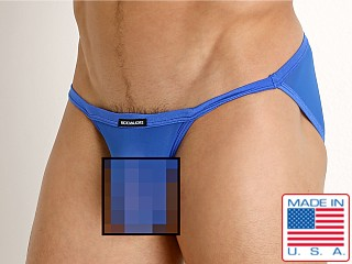 Model in royal Rick Majors Sheer Mesh Sports Brief