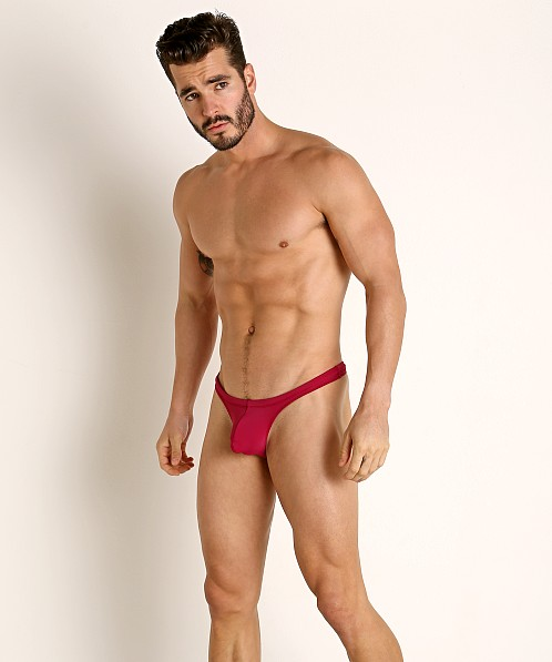 Rick Majors Low Rise Swim Thong Wine