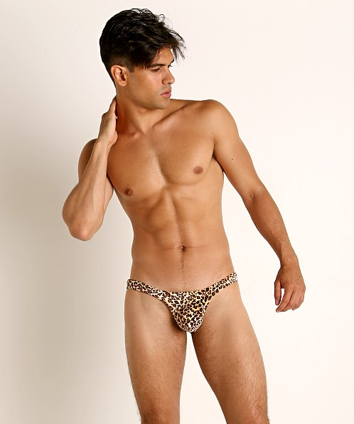 Rick Majors Low Rise Swim Thong Leopard