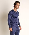 Olaf Benz Pearl 2057 Luxury Modal Lounge Shirt Sapphire, view 2