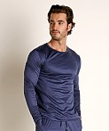 Olaf Benz Pearl 2057 Luxury Modal Lounge Shirt Sapphire, view 3