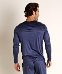 Olaf Benz Pearl 2057 Luxury Modal Lounge Shirt Sapphire, view 4