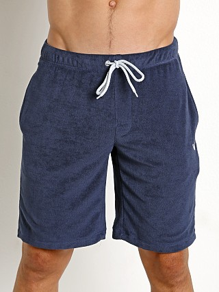 Emporio Armani French Terry Bermuda Shorts Blue