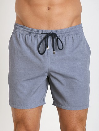 Model in denim blue GrigioPerla Tela Tecnica Swim Boxer Blue