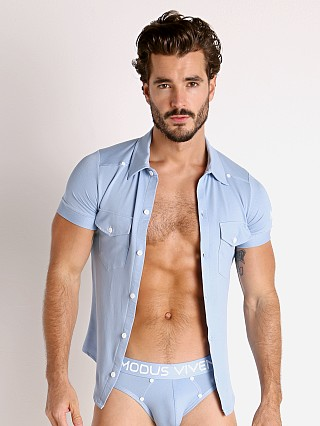 Modus Vivendi Jeans Line Shirt Light Blue