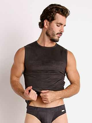 Complete the look: Modus Vivendi Vegan Suede Laser Cut Muscle Shirt Black