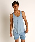 Go Softwear Moderne Classic Muscle Tank Top Slate Blue, view 2