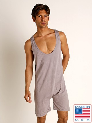 Model in pewter Go Softwear Moderne Step-In Lounge Bodysuit