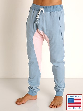 Model in slate blue Go Softwear Moderne Jogger Pants