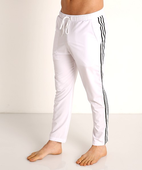 Sauvage Woven Lycra Athletic Pants White