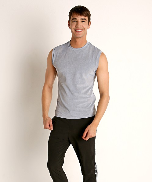 Sauvage Luxury Italian Muscle Tee Heather Grey