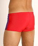 Sauvage Football Lace-up Swim Trunk Red/Cobalt, view 4