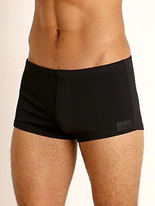 You may also like: Sauvage Pique Textured Square Cut Swim Trunk Black