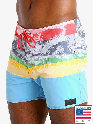 Model in multicolor Sauvage St. Tropez Surf Short