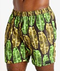 "Sauvage 17"" Pull-On Surf Trunk Banana Leaf Print, view 3"