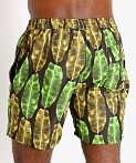 "Sauvage 17"" Pull-On Surf Trunk Banana Leaf Print, view 4"
