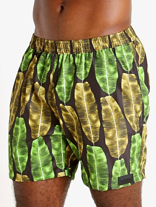"Complete the look: Sauvage 17"" Pull-On Surf Trunk Banana Leaf Print"