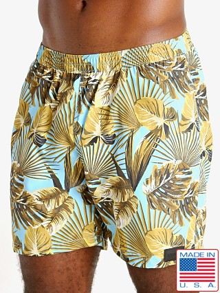 "Model in maui print Sauvage 17"" Pull-On Surf Trunk"