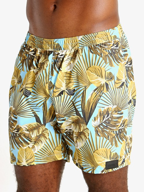 "Sauvage 17"" Pull-On Surf Trunk Maui Print"