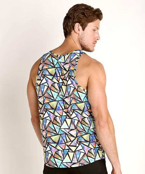 2xist Sliq Micro Printed Tank Stained Glass Geo