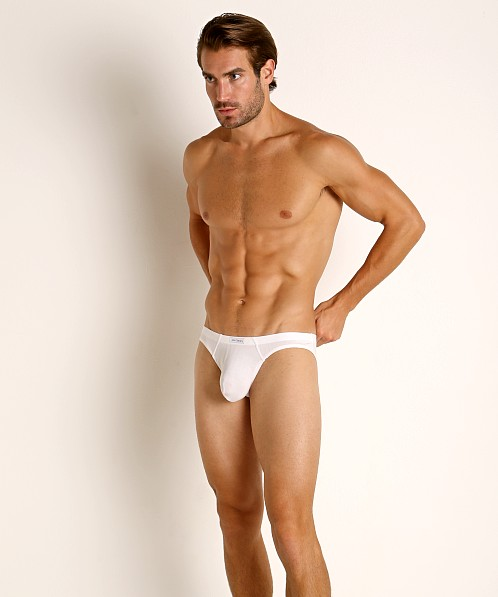 John Sievers LUX Natural Pouch Low Rise Brief White